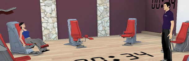 showroom 3D pour la franchise Lady Fitness