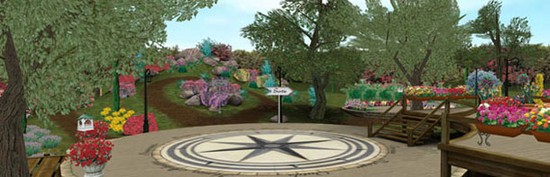 le jardin 3D virtuel de willemse