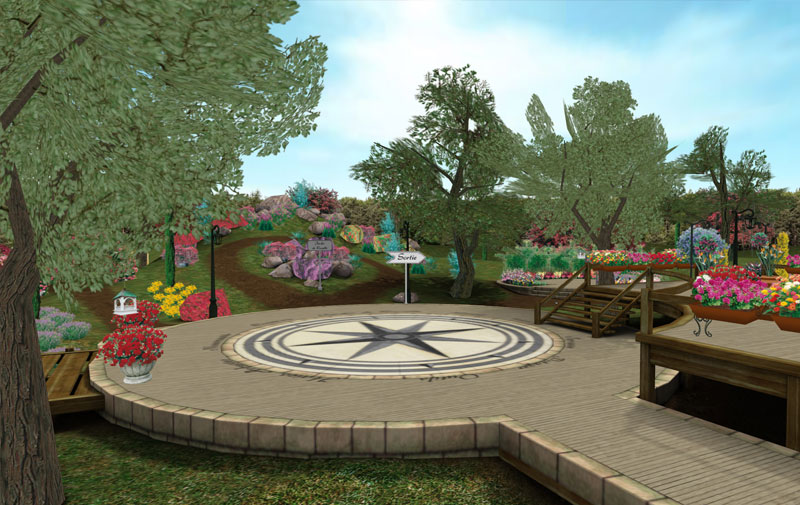 Id es 3com le jardin 3d de willemse for Jardin willemse